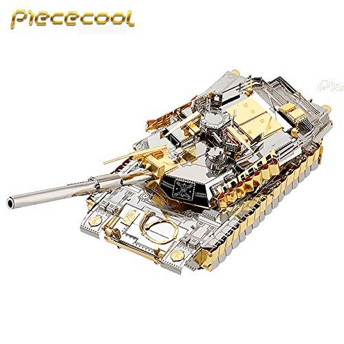 2016 Piececool 3D Metal Puzzle M1A2 SEP TUSK II Tank Models P077-GS DIY 3D Laser Cut Models Jigsaw Toys