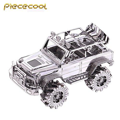 2016 Piececool 3D Metal Puzzle SUV Off-Road Vehicle Car Models P078-S DIY 3D Laser Cut Models Jigsaw Toys For Audit