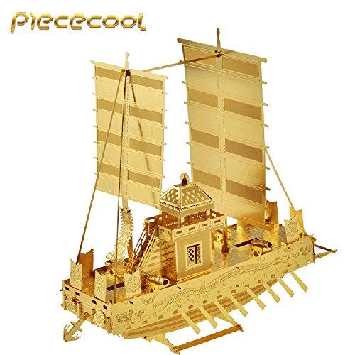 Piececool Panokseon Ship P021-S P021-G Model DIY 3D Metal Puzzle Laser Cut Jigsaw Toys
