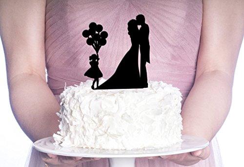 Couples Balloon Girl Cake Topper Wedding Cake Topper