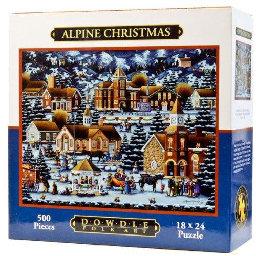 Dowdle Folk Art Alpine Christmas 500pc 16x20 Puzzles