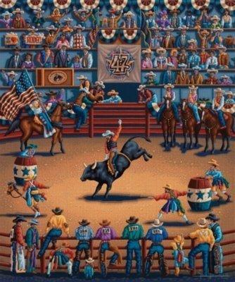 Dowdle Folk Art Rodeo Days 100pc 16x20 Puzzles
