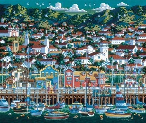 Dowdle Folk Art Santa Barbara 500pc 16x20  Puzzles