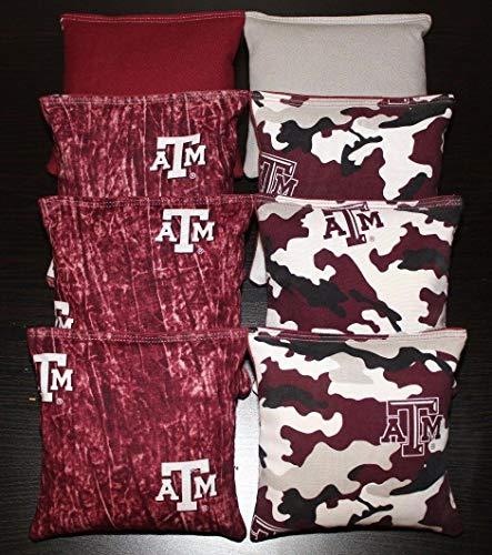 BestSeller989 Texas A&M University Aggies Cornhole Bean Bags Tie Dye Tailgate Game 8 ACA Bags