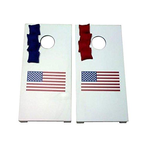 AJJ Cornhole 117 USA Flag Tabletop Cornhole Set