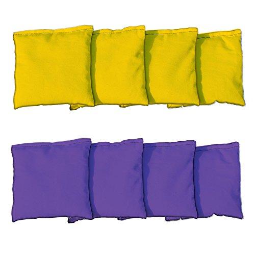 Cornhole Bags Set - 4 Purple 4 Yellow