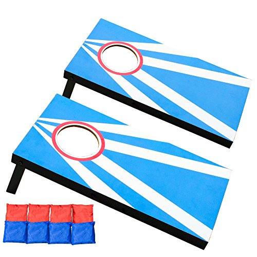 Play Platoon Mini Cornhole Game Set with Bags Boards - Play Junior Corn Hole at Your Desk