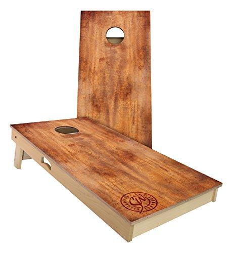 Slick Woodys Burnt Wood Cornhole Set 4 by 2 Feet