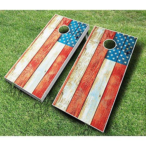 AJJ Cornhole 107-DistressedAmericanFlag Distressed American Flag Cornhole Set