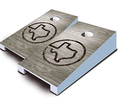 TEXAS BRANDED Flag State TABLETOP Desktop Cornhole Boards Game Set Bean Bag Tailgate Toss Mini Miniature