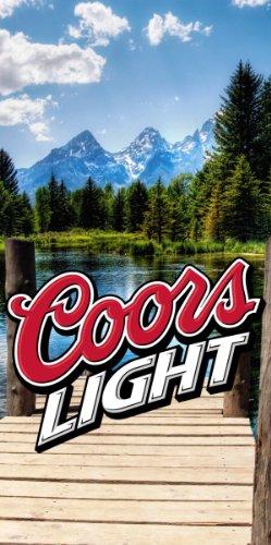 Coors Light Wrap Set 2 Decals 24x48 for Cornhole Baggo Bag Toss Boards