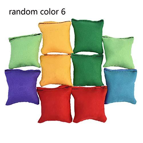 FunPa 6PCS Cornhole Bag Funny Dual-Layer Square Cornhole Bean Bag Toss Bag for Kids Corn Hole Game School Activites Supplies