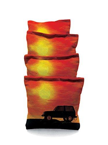 Jeep Sun Set Standard Custom Corn Hole Bags Cornhole Bags