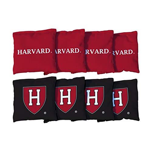 Victory Tailgate NCAA Regulation All Weather Cornhole Game Bag Set - 8 Bags Included - Harvard University Crimson
