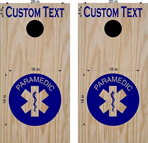 EMT Paramedic Fire Department Fighter Cornhole Board Wrap Decals Stickers Bean Bag Toss FF02
