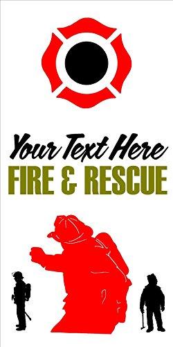Fireman Fire Department Fighter Cornhole Board Decals Stickers Bean Bag Toss