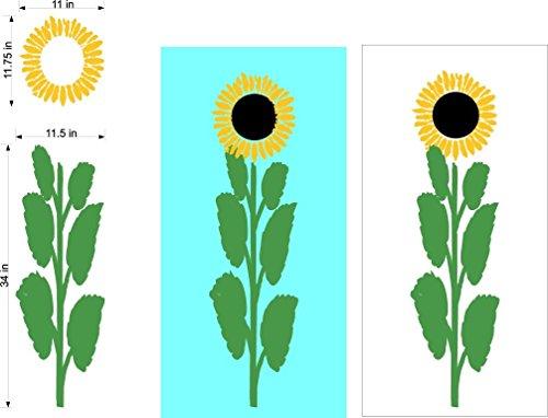 Sunflower Flower Cornhole Board Decals Stickers Bean Bag Toss Rings
