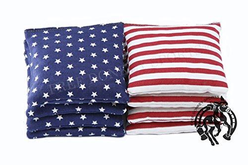 Free Donkey SportsRegulation Cornhole Bags Set of 8 Stars and Stripes Expedited Shipping
