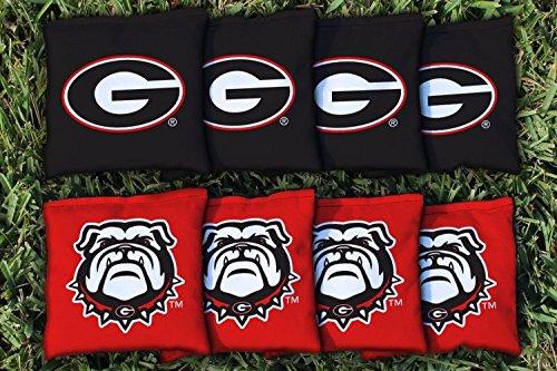 Georgia Bulldogs Replacement Cornhole Bag Set corn-filled