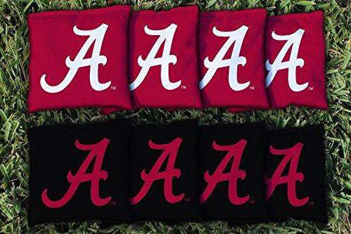NCAA Replacement Corn Filled Cornhole Bag Set NCAA Team Alabama Crimson Tide by Victory Tailgate