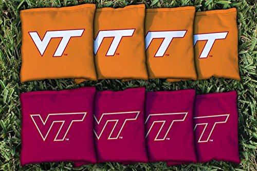 NCAA Replacement Corn Filled Cornhole Bag Set NCAA Team Virginia Tech Hokies