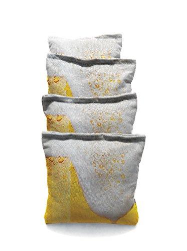 Big Beer White 2 Standard Custom Corn Hole Bags Cornhole Bags