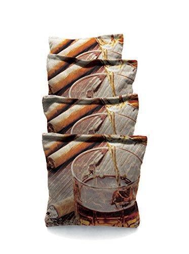 Cigar and Cognac 1 Standard Custom Corn Hole Bags Cornhole Bags