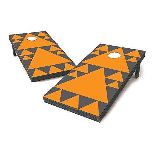 Tennessee Two Tone College Football Cornhole Sticker Covers  Cornhole Board Decals  Cornhole Board Stickers  Bag Toss Stickers  Dummy Board Decals Orange Grey - Geometric Fan