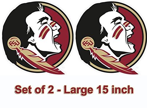 FSU Florida State Large 15 inch Seminole Cornhole Decals  Set of 2
