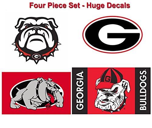 Georgia Bulldogs Large Cornhole Decals  Set of 4 HUGE- Go Dawgs
