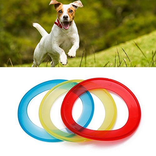Delight eShop Pet Puppy Dog Ring Frisbee Training Toy Throw Fetch Catch Flying Disc Fun Disk