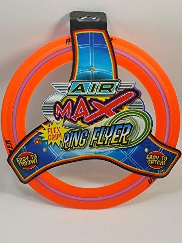 Air Max Flex Grip Ring Flyer Orange Frisbee Round Flying Disc Toy