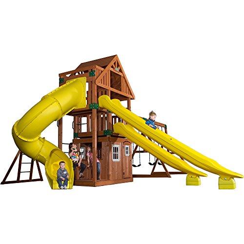 Backyard Discovery 54293 Traverse All Cedar Wooden Swing Set