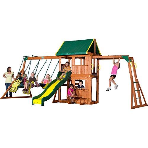 Backyard Discovery Prairie Ridge All Cedar Wood Playset Swing Set