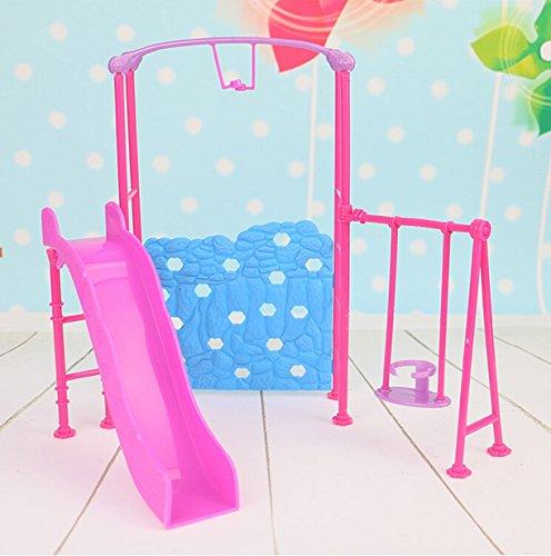 WellieSTR Doll Amusement Park Slide Swing Accessories For Barbie DollGirl Play House
