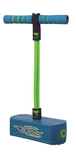 My First Flybar - Pogo Jumper Blue  Safe Easy Pogo Stick For Beginners  - Quality Durable Foam and Bungee Pogo Offers Great hopping fun indoors and out by FLYBAR INC