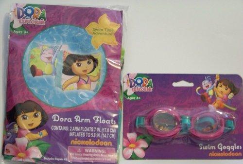 Dora Arm Floats Swim Goggles Set