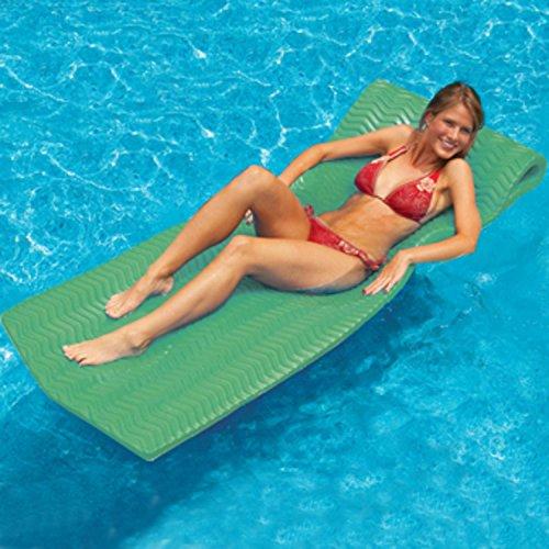 74 Water Sports Sofskin Kiwi Green Floating Swimming Pool Mattress Raft