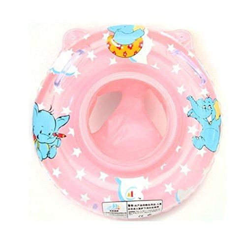 StillCool Baby Kids Toddler Inflatable Swimming Swim Ring Float Seat Boat Pool Bath Safety One Size Pink Toddler Swim Ring