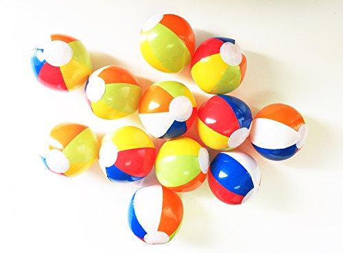 GIFTEXPRESSTM 24 Pcs 6 Mini Inflatable Rainbow Multicolor Beach Ball