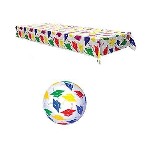 WeGlow International Graduation Party Decor Multicolor 54 x 108 Tablecover24 Beach Ball