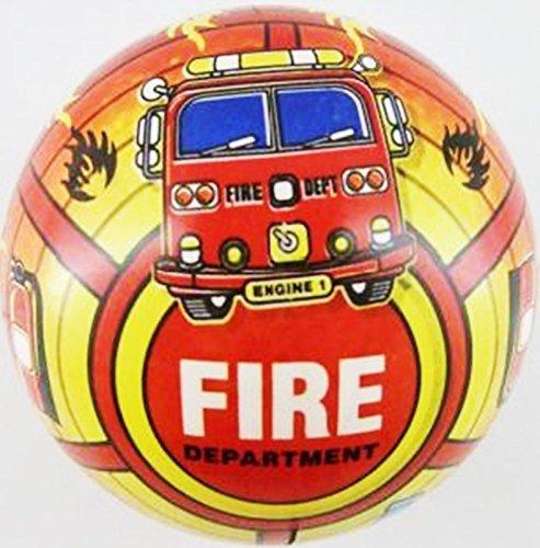 Inflatable Fire Engine PVC Plastic Football Play Beach Ball Kid Boy Party Child Pool Birthday Garden Summer Fun 23cm by Concept4u