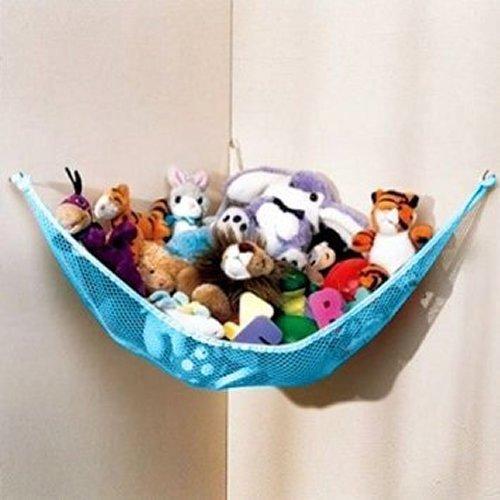 Generic Stuffed Animal Toy Organizer Hammock Pet Net Blue Net and Trim