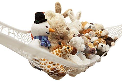 Toy Hammock by Freddie and Sebbie - Luxury Jumbo Toy Hammock Storage Net For Stuffed Animals Excellent For Nursery Storage Toys Games Organization Hanging Organizers
