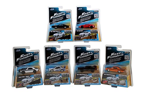 Jada Toys Fast Furious 155 Diecast Vehicle - Dodge Charger STOR Plymouth Road Runner Lykan Hyprsport Pack of 6