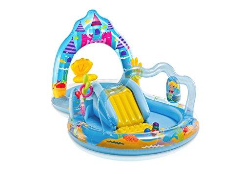 New Shop Intex Mermaid Kingdom Play Center Inflatable Kiddie Spray Wading Pool