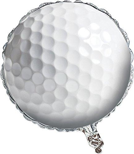 Creative Converting Sports Fanatic Golf Metallic Balloon White
