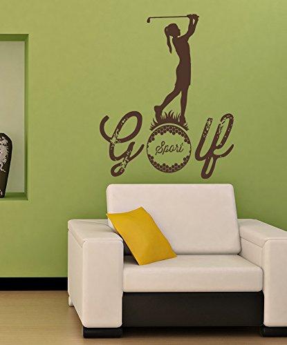 Sports Golf Golf Club Ball Pill Girl Kids Room Children Stylish Wall Art Sticker Decal G8634