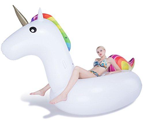 Jasonwell Giant Inflatable Unicorn Pool Float 1082 x 55 x 47-Inch
