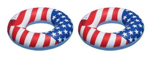 Swimline 36-Inch Americana Swimming Pool Tube  90196 2 Pack by Swimline